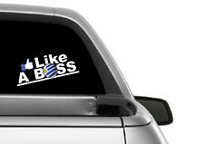 LIKE A BOSS URUGUAY WORLDCUP DECAL 200MM BY 75 MM