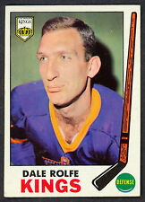 1969 70 TOPPS HOCKEY 100 DALE ROLFE NM LOS ANGELES L A KINGS CARD