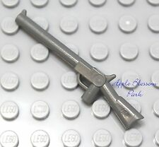 NEW Lego Police Minifig GRAY SHOTGUN GUN Army Soldier Rifle/Indiana Jones Weapon