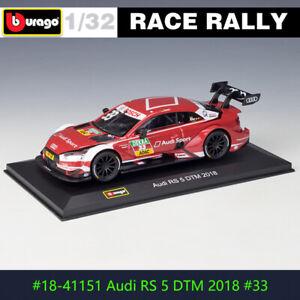 BBURAGO 1:32 2018 Audi RS5 DTM No. 33 DS WRC rally car alloy model