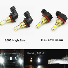 Combo 9005+H11 CSP LED Headlights Kit High Low Beam 6000K White 100W 8000LM US