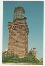 South Tower Twin Lights Lighthouse Highlands NJ Old Postcard USA 401a ^