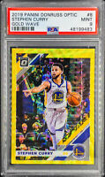 Stephen Curry 2019-20 Donruss Optic GOLD WAVE Prizm PSA 9 MINT POP 3 🔥📈