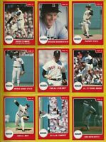 1987 Roger Clemens STAR '87 12 CARD complete SET Vintage Baseball Boston Red Sox
