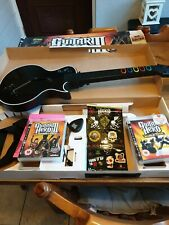 Sony PS3 Guitar Hero 3 wireless Guitar With Dongle and extra World Tour Game .