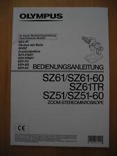 Olympus Mikroskop SZ51 61 Bedienungsanleitung microscope brochure user manual