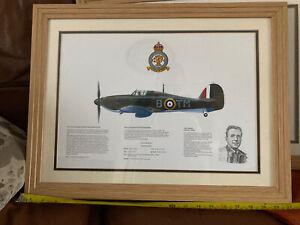 Hawker Hurricane Mk1 504 squadron print by M.A. KINNEAR. Framed