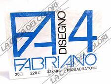 FABRIANO - DISEGNO 4 - F4 - 220 g/mq RIQUADRATO - 33x48cm - BLOCCO 20FG 4 ANGOLI
