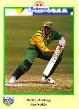 BUTTERCUP 1995 RICKY PONTING Bat AUSTRALIA ACB Australian Cricket Card