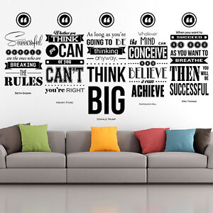 Eric Thomas Quote Set Inspirational Wall Decals Motivational Wall Art Home Decor