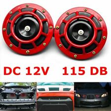 2pcs 115db Hella Super Loud Compact Electric Blast Tone Car Air Horn Kit 12v