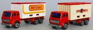 Matchbox Superfast Mercedes Matchbox & Sea / Land Container Trucks no.42