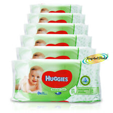 6x Huggies Natural Care Gentle BABY SALVIETTE aloe vera no alcool 336 SALVIETTE totale