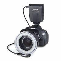 Meike FC-100 Macro Ring LED Flash/Light for Canon Nikon Panasonic DSLR-Kameras