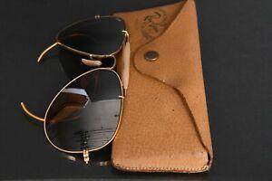 Vintage Ray-Ban Aviator Pilot 52 Sunglasses 14 Bausch & Lomb B&L Gold Fill