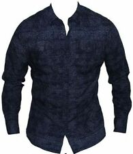 Geometric Button-Front 100% Cotton Casual Shirts for Men