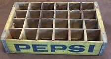 Vintage Woodstock  1976 Charleston SC Wood Pepsi Cola Soda Pop 24 Bottle Crate