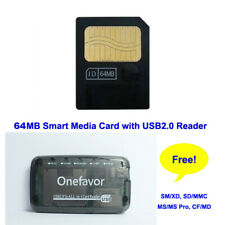 64MB SmartMedia Card 3v 16M Smart Media with CF XD MS DUO SD MMC SM Card Reader