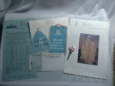 Hotel Manhattan New York Room Key and Paper From 1960's