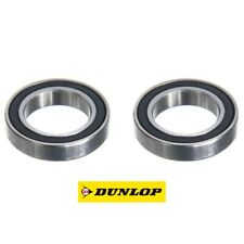 PAIR OF DUNLOP 6802-2RS (61802-2RS) THIN SECTION TOP QUALITY BEARINGS 15x24x5mm