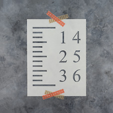 Growth Chart Stencil - Reusable Stencils of a Growth Chart for Crafts