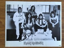 IRON MAIDEN Black & White Photograph Print Signed / Autographed By Steve Harris