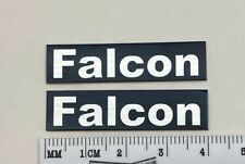 FALCON LS3/5A Speaker Grill Badge Logo Black & Silver Custom Aluminum PAIR