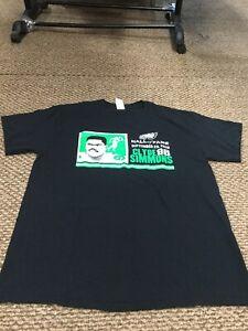 NWOT Philadelphia Eagles Clyde Simmons Black Hall Of Fame T-Shirt Large New