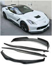 For 14-19 Corvette C7 Z06 Stage 2 COMBO KIT Front Lip Side Skirts & Rear Spoiler