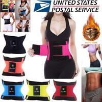 Men Women Waist Trainer Trimmer Yoga Sauna Sweat Sport Belt Slimming Body Shaper