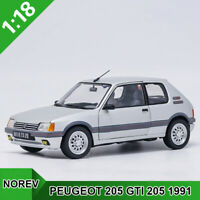 NOREV  1:18  PEUGEOT 205 GTI 205 1991 Diecast Model Collection Car  New In Box