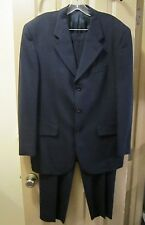 SZ 40S / 50S ENZO TOVARE TESSUTO ZIGNONE BLUE 3 BUTTON SUIT, MADE IN ITALY, GUC