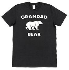 Grandad Bear Cotton T-Shirt Grandchild Gift Present Grandpa Daddy Grandson