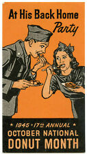 Usa Poster Stamp - 1945 - 17th Annual - October National Donut Month