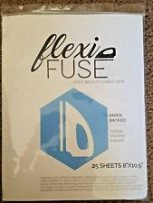 FlexiFuse Light Weight Fusible Web Hand & Machine Sewable 25 sheets for Applique