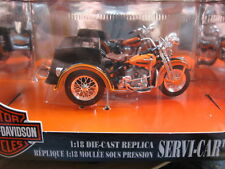 MOTO 1/18  HARLEY DAVIDSON SERVI CAR 1947 ORANGE