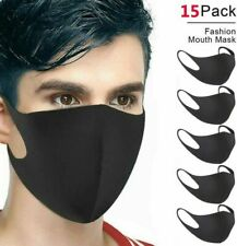 15PCS ANTI-FOG FACE MOUTH COVER PROTECTION FILTER RESPIRATOR BREATHABLE WASHABLE