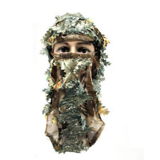 Woodland Camo 3D Camouflage Leaf Ghillie Suit Face Mask Paintball Hunting Equip
