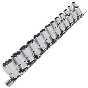 """Sealey 13pc 1/4"""" Total Drive Socket Set 4-14mm Hex Spline Trx-Star"""