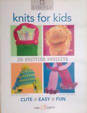 Simplemente knits para niños de 20 proyectos de tejer patrones de punto del libro en rústica de Alondra Crafts