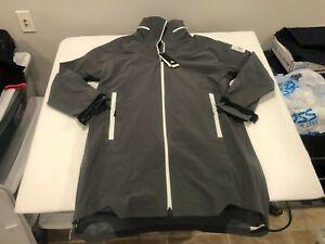 NWT $280.00 Adidas Mens Myshelter Rain Ready Parka Jacket Gray Size MEDIUM