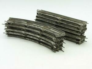 American Flyer O Gauge 18 Piece Banked Track Lot 10 Straight 8 Curve Nice