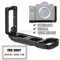 🔥 Vertical L-Plate Bracket Quick Release Hand Grip For Sony A7R III A7III   ^