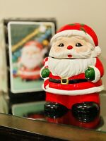 Vintage Ceramic Santa Cookie Jar & Candy Container The Fat Man St. Nick