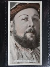 No.27 CHARLES LAUGHTON - Famous Film Stars - Ardath Ltd Cigarette Card 1934