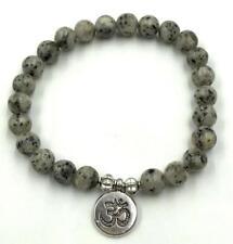 8mm natural moonstone mala man bracelet yoga meditation beads lotus pendant