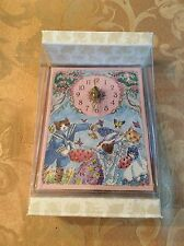 Ring Around The Rosie Kitty Cat & Bunny Clock Created by Alice Shaw NEW