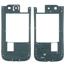 Samsung Galaxy S3 Ne i9301 Mittelgehäuse Cover Rahmen Kamera Glas, blau
