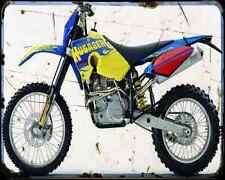 Husaberg Fe450E 07 A4 Metal Sign Motorbike Vintage Aged