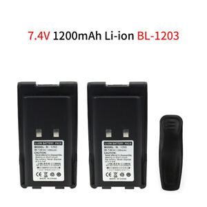 2pc BL1203 Li-ion Battery for HYT Hytera TC-600 TC-600U TC-600V Two-Way Radios